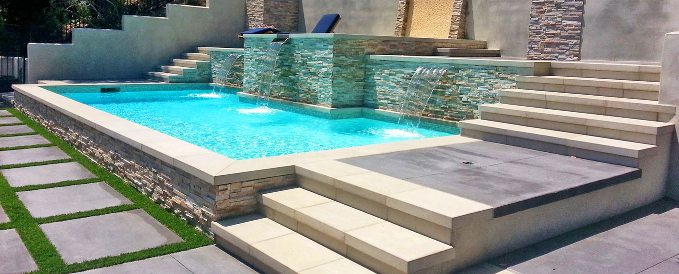 Los angeles pool and spa contactor swimming pool design for Raised swimming pool designs
